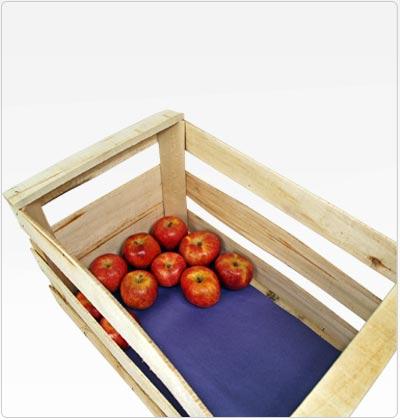 Bandejas de strech de fondo de manzana